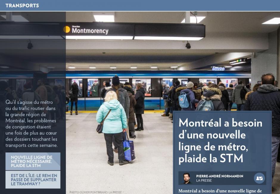 La STM veut une nouvelle ligne de métro