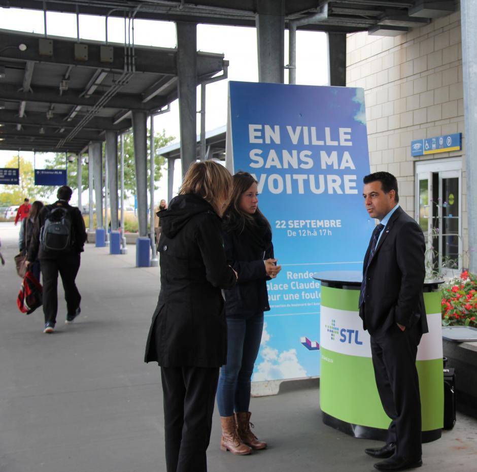 Le président de la STL rencontre les usagers - Société - Courrier Laval