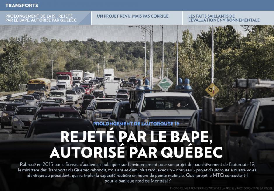 Prolongement de l'autoroute 19: rejeté par le BAPE, autorisé par Québec