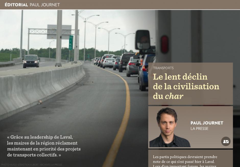 Le lent déclin de la civilisation du «char» - | Paul Journet